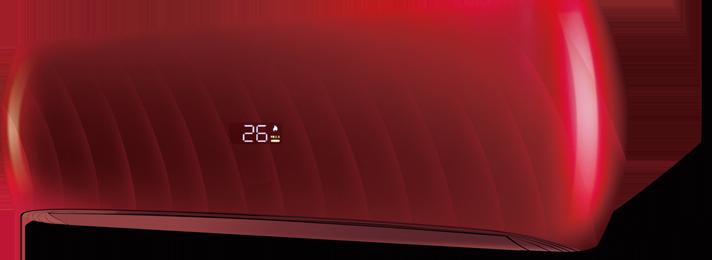HD Design Cherry színű klímaberendezés fotója